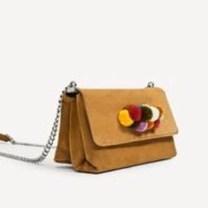 Zara leather crossbody bag with flap detail